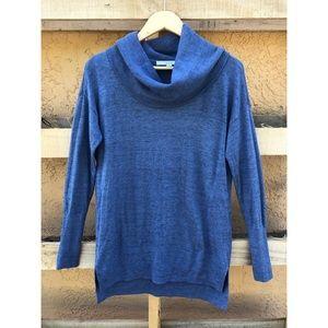 LOFT | Turtleneck Blue Sweater Small
